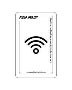 Keycard RFID standard print CryptoRF (Staff card VISION)