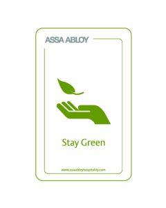 RFID Paper Keycard MIFARE UL EV1 Stay Green Logo